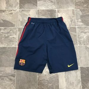 Men's Nike dri fit FC Barcelona workout shorts